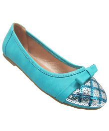 Yokids Slip-On Belly Shoes Sequin Detailing - Sea Green