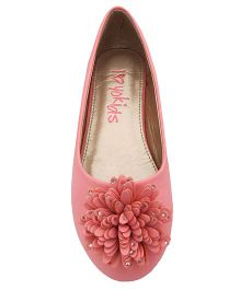 Yokids Slip-On Belly Shoes Floral  Applique - Pink