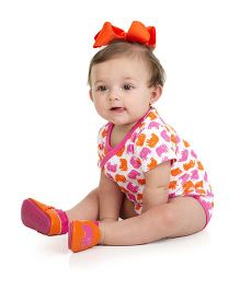 Judanzy Ellie Elephant Shoes - Orange And Pink