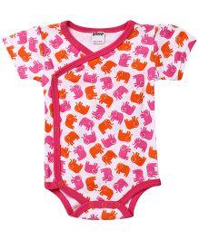 Judanzy Ellie Elephant Bodysuit- Orange And Pink