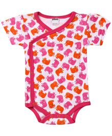 Judanzy Ellie Elephant Bodysuit - Orange And Pink