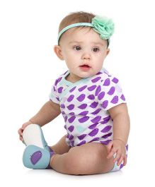 Judanzy Dainty Bird Bodysuit- Purple