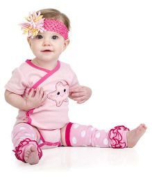 Judanzy Sadie Sea Star Bodysuit- Pink