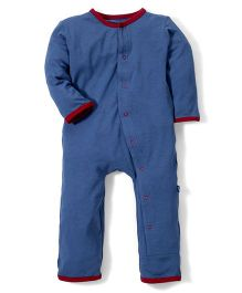 Kickee Pants Applique Coverall Firecracker Embroidery - Navy