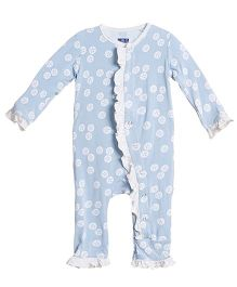 Kickee Pants Ruffle Coverall - Blue