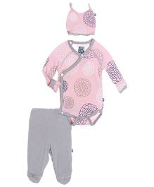 Kickee Pants Ruffle Kimono Newborn Gift Set Floral Print - Pink