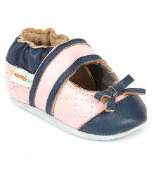 Momo Baby Soft Sole Leather Shoes Crown - Purple