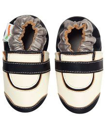 Momo Baby Golf Leather Crib Shoes - White