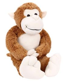 Dimpy Stuff Cuddly Brown Monkey With Loose Legs - 70 cm