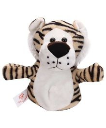 Dimpy Stuff Tiger Hand Puppet Brown - Length 25 cm