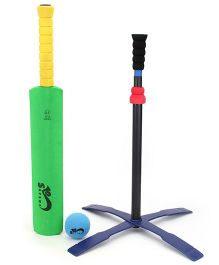 Safsof Tee Ball Set Cricket - Green And Yellow