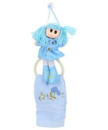 Napkin With Holder Doll Shape - Blue