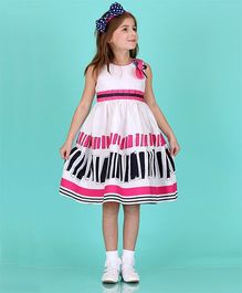 Bonny Billy & Blue White And Pink Rectangle Dress
