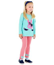 Bonny Billy & Blue Tunic And Polka Dot Legging Set - Aqua