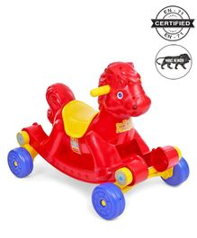 Babyhug Rock 'O' Ride Pony Ride-on - Red
