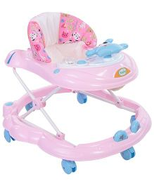 Babyhug Teddy Musical Baby Walker - Pink
