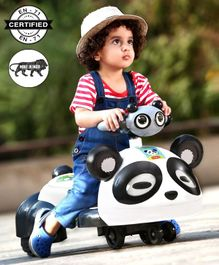 Babyhug Panda Gyro-Swing Car - Black & White