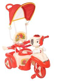 Babyhug Happy Elephant Tricycle - Red & Cream