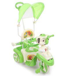 Babyhug Happy Elephant Tricycle - Green & Cream