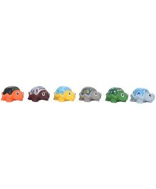 Baby Bath Toys Tortoise Shape Pack Of 6 - Multicolor