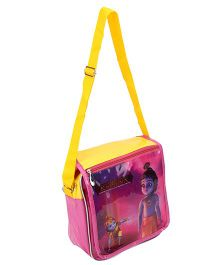 Little Krishna Trendy Flap Bag - Yellow And Pink