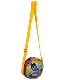 Little Krishna Trendy Round Cross Sling Bag - Yellow And Purple