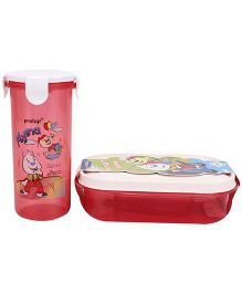 Pratap Hungry Time Lunch Box Red (Prints May Vary)
