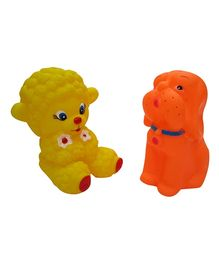 Baby Steps Squeeze Dog & Sheep Set Of 2 - Multicolour