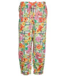 My Lil Berry Relaxed Fit Pants Floral Print - Multi Color