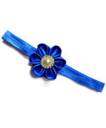 Flower With Pearl Blue Headband