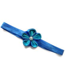 Pearl Flower Navy & Sky Blue Headband