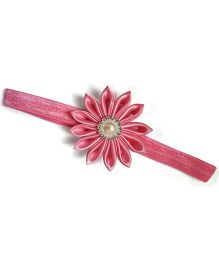 Pink Flower With Pearl Headband