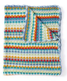 Pebbles Crochet Knitted Blanket - Multicolour
