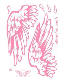 Studio Briana My Angel Abstract Wings Wall Sticker - Pink