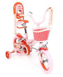 Hello Kitty 12 Inch Bicycle Red And White - EI HK0066