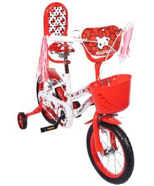 Hello Kitty 14 inch Bicycle Red And White - EI HK0067