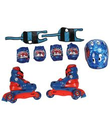 Marvel Spiderman Skating Protective Set Pack Of 4 - Blue And Red