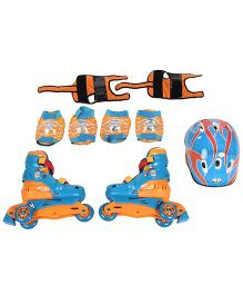 Spiderman Skating Protective Set Pack Of 4 - Blue And Orange