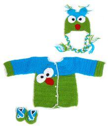 The Original Knit Birds Sweater Set - Blue & Green
