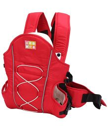 Mee Mee Baby Carrier 4 In 1 Soft And Premium - Red