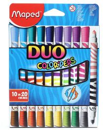 Maped Duo Felt Tip Crayons Pack Of 10 - Blue