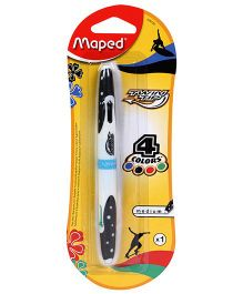 Maped Twin Tip 4 Colour Pen - White