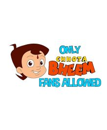 Chhota Bheem and Fans Door Decal - Multi Color