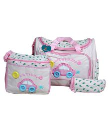 Sunbaby Mother Diaper Bag - White & Pink