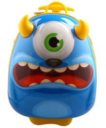 Sunbaby Monster Design Luggage Bags - Blue