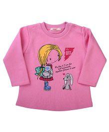Fox Baby Full Sleeves Sweat T-Shirt Printed - Pink