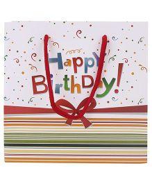 ShopAParty Happy Birthday Gift Bag White - 1 Piece