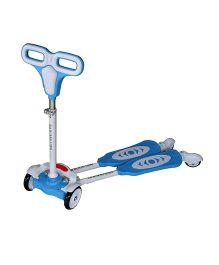 Adraxx 4 Wheel Kids Swing Scooter - Light Blue