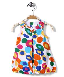 ToffyHouse Sleeveless Frock Circle Print - Multi Colour