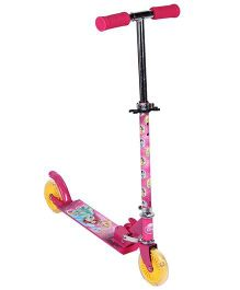 Disney Princess With Lighting Two Wheeler Scooter - Pink